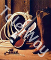 Cowboy Boots, Rope, Pearls and Violin Kit (16x20)(1 mounted & 5 prints).