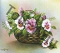 Lavender Pansies in a Basket (8x10)