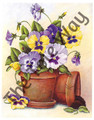 Potted Pansies (8x10)