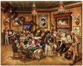 Western Saloon (28x32) SOLD ONLY AS KIT OF 8 PRINTS