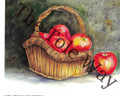 Red Apples in a Basket (8x10)