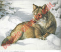 Wolf in Snow by  Clancy (9x11)