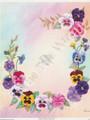 Pastel Pansies Frame by Reina (8x10)