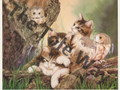 Kittens with Owls (8x10)