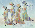 4 Tribal Dancers (16x20)