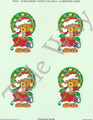 Christmas Teddy card sheet