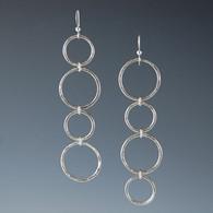 """Cascade"" Silver Circle Earrings"