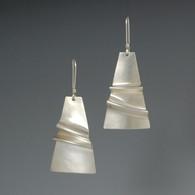 """""""Folded"""" Silver Earrings"""