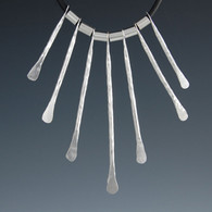 """Seven"" Hammered Silver Tines"