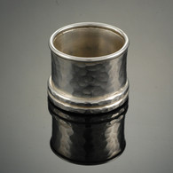 """Four Into One"" Hammered Silver Band"
