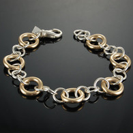 Gold-Fill and Silver Link Bracelet