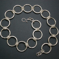 """Six to One"" Hammered Silver Chain"