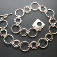 """Circles in Circles"" Silver Chain"