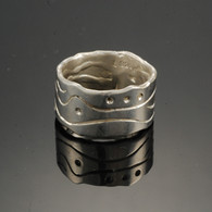 """Scroll"" Silver Band"