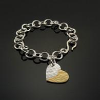 """Duet"" Heart Charm Bracelet"