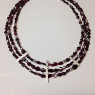 Garnet and Pearl Choker