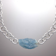Aquamarine Nugget, sterling links