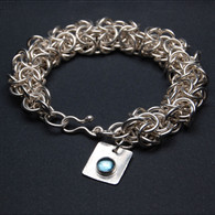 "Chainmail Silver Bracelet: ""Turkish Roundmail"""