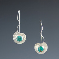 "Turquoise ""River"" Silver Earrings"