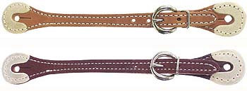 Spur Straps- Rawhide Tip Latigo Leather