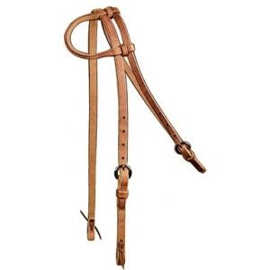 Headstall with Rolled Sliding Ear with Water Ties