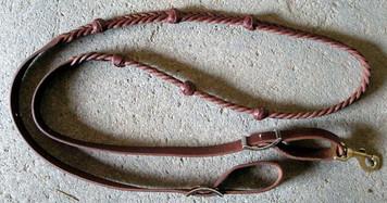 Marlene's Newest 5 Plait Reins w/Leather Knots