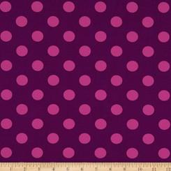 Foxglove Pom Poms - Free Spirit fabrics