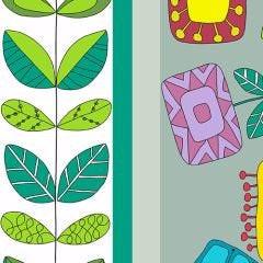 Garden Square A-7808-C - Andover Fabrics