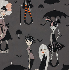 Haunted House Going Goth DE 8763C - Alexander Henry Fabrics