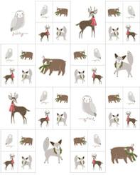 Merriment Sm Christmas Critters Panel 48271-11 - Moda fabrics