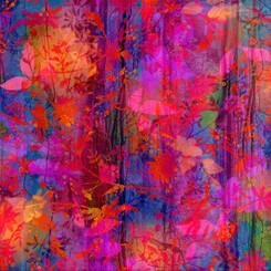 Iridescence Multi Batik Floral - P&B Textiles