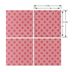 "Sizzix Bigz L Die - Squares, 2"" Finished (2 1/2"" Unfinished)"