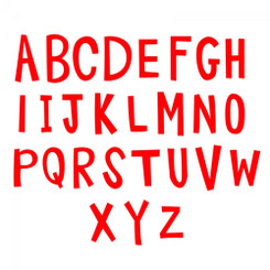 Sizzix Bigz Alphabet Set 4 Dies - Fresh Blossoms Alphabet