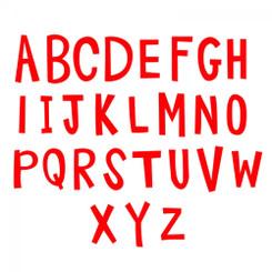 Sizzix Bigz Alphabet Set 4 Dies - Fresh Blossoms Alphabet