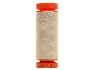 Aurifil Mako Cotton Quilting Thread 50 wt. #2310 Light Beige 220 yd.