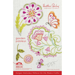 Heather Bailey Embroidery Pattern - Garden Paisleys