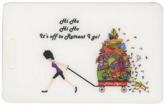 Luggage Tags Hi Ho Hi Ho Its Off To Retreat I Go - Fabric Fanatics