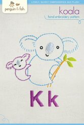 Koala Embroidery Pattern - Penguin & Fish