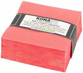 Kona Mini Charm Squares Pink Flamingo - Robert Kaufman