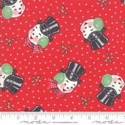 Peppermint Snowmen - Moda fabrics