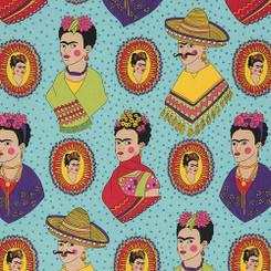 Fantastico Frida Turquoise Laminate - Alexander Henry Fabrics