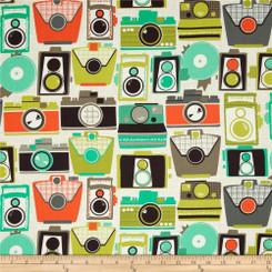 Cameras Laminate - Michael Miller fabrics