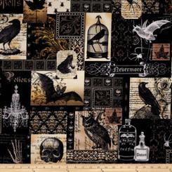 Nevermore Laminate - Michael Miller fabrics