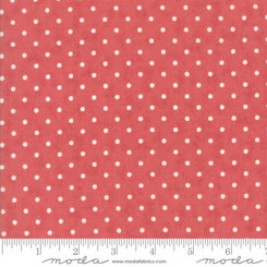 Rose with White Polka Dots Laminate - Moda fabrics