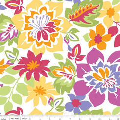 Popping Flowers Laminate - Riley Blake fabrics