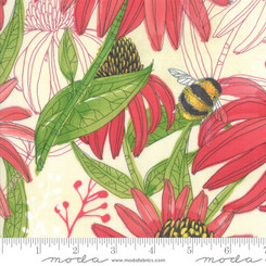 Painted Meadow Cream (Bumble Bees) - Moda fabrics