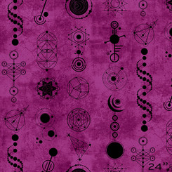 Declassified Amethyst Crop Circles - Andover Fabrics