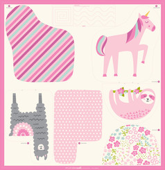 Cut Sew Animals Panel - Moda Fabrics