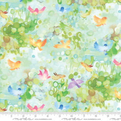 Flights of Fancy Aqua - Moda fabrics