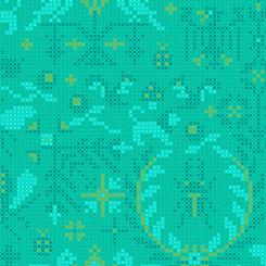 Sun Print 2020 Mermaid Menagerie - Andover Fabrics